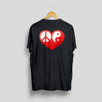 T-Shirt Mock-Up Back peace love balance