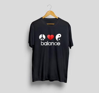 T-Shirt Mock-Up Front balance