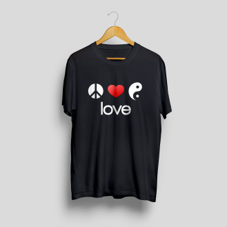 T-Shirt Mock-Up Front love